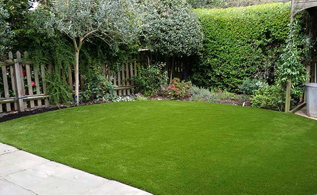 Artificial grass lawn installation Highgate, North London